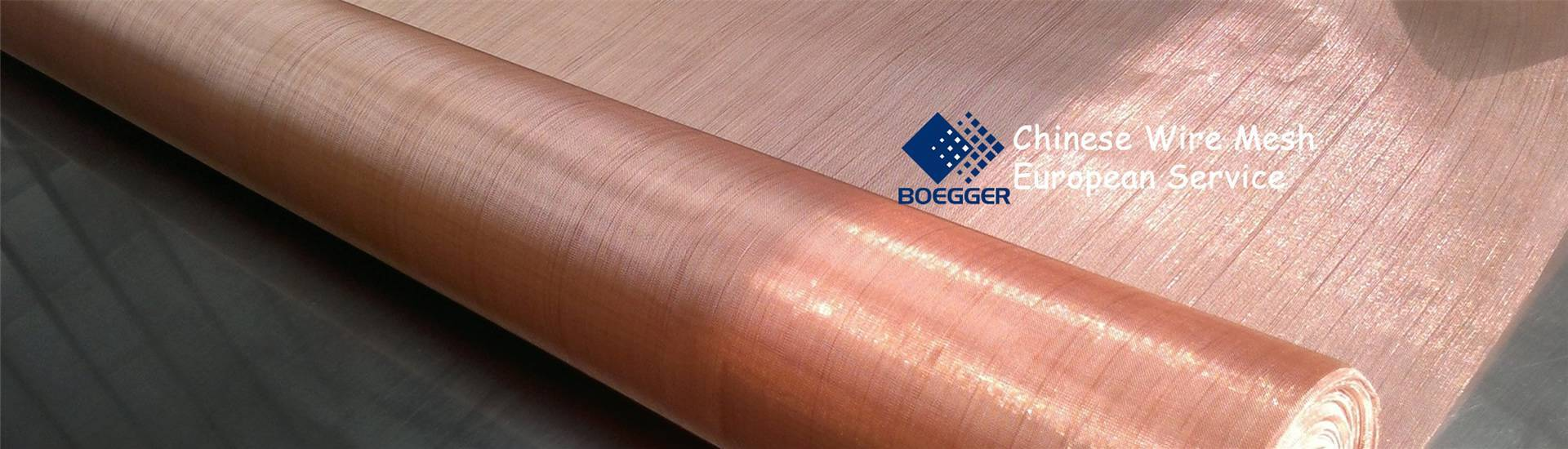 A roll of fine copper mesh on the test-bed, with even and beautiful structure.