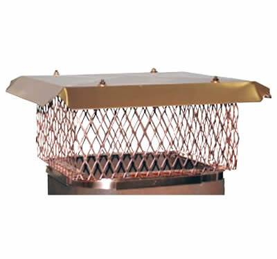 Expanded copper wire mesh on rectangular flue