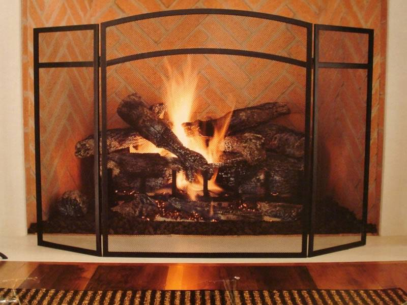 Copper fireplace screen increasing elegance and warmth a classical and elegant copper fireplace screen teraionfo